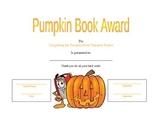Pumpkin Book Character Certificate