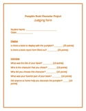Pumpkin Book Character Rubric