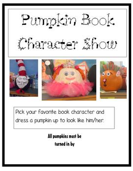 Pumpkin Book Character Show