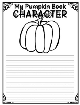 Pumpkin Book Character Writing