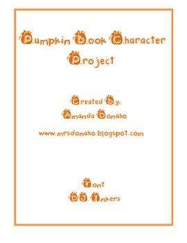 Pumpkin Book Characters