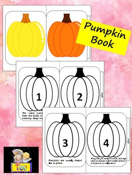 Pumpkin Accordion Book - Cut and Color - Fun Facts