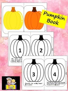 Pumpkin Accordion Book - Cut and Color - Fun Facts
