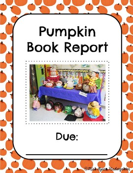 Pumpkin Book Report - Character Setting and Title
