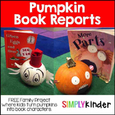 Pumpkin Book Report