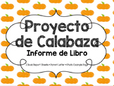 Pumpkin Book Report Project [SPANISH - Informe de Libro]