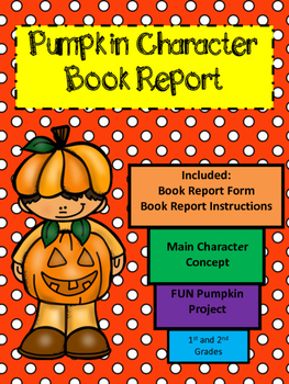 Pumpkin Book Report Template