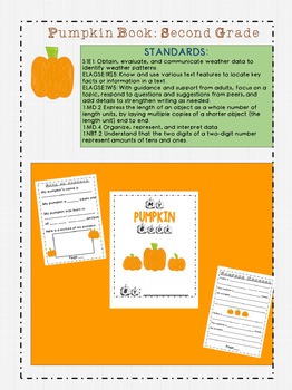 Pumpkin Book: Second Grade