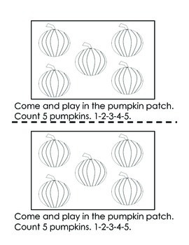 Pumpkin Book { Sight Words and Counting}