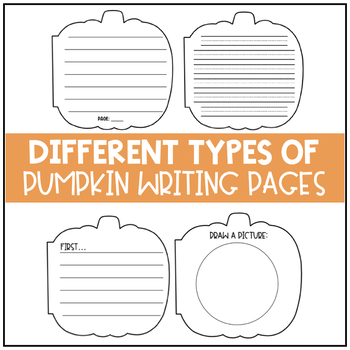 Pumpkin Book Writing Pages