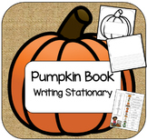 Pumpkin Book Writing Stationary