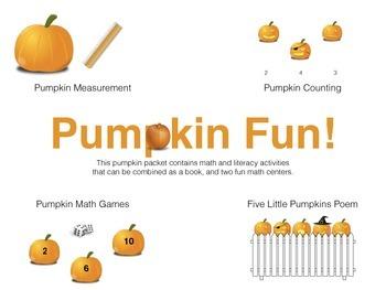 Pumpkin Book and Math Centers