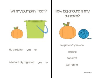 Pumpkin Booklet-Science and Math