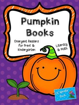 Pumpkin Books - Math & Literacy Emergent Readers for Pre-K/PreK/Kindergarten