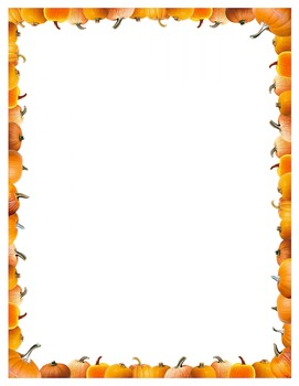 Pumpkin - Border Frame - Halloween