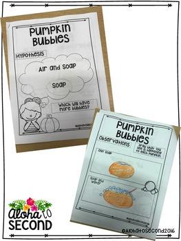 Pumpkin Bubbles Experiment