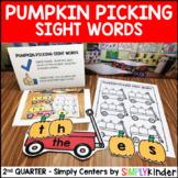 Picking Pumpkins Sight Word Center - Kindergarten Center - Simply Centers