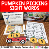 Picking Pumpkins Sight Word Center - Kindergarten Center -