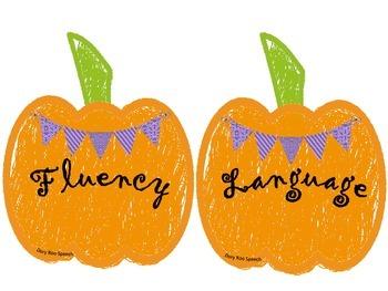 Pumpkin Bulletin Board for Speech Therapy