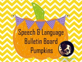 Pumpkin Bulletin Board for Speech Therapy