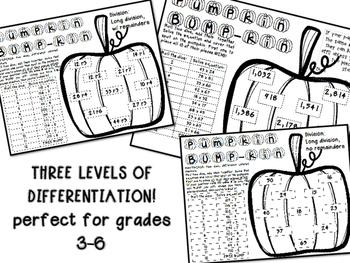 Pumpkin Bump -kin Fall Math Games (Multiplication / Division)