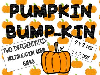 Pumpkin Bump -kin Fall Multiplication Game