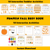 Pumpkin Busy Binder, Fall Autumn Busy Book, Halloween Busy