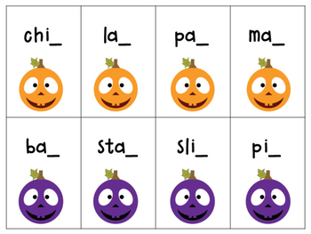 Pumpkin C, K or -CK- Orton-Gillingham Aligned