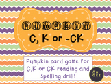 Pumpkin C, K or -CK- Orton-Gillingham