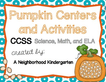 Pumpkin CCSS Centers and Activities