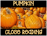 Pumpkin CLOSE Reading & Activities