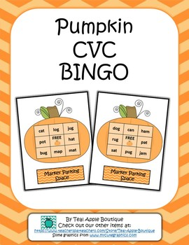 Pumpkin CVC Bingo