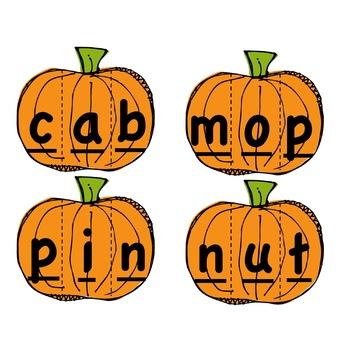 Pumpkin CVC Word Builders
