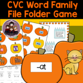 Pumpkin CVC Word Families File Folder Game