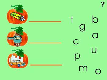 Pumpkin CVC Words For The SmartBoard