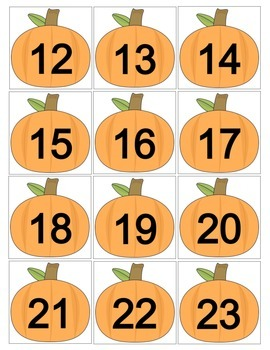 October Pumpkin Calendar Cards