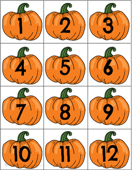 Pumpkin Calendar Cards