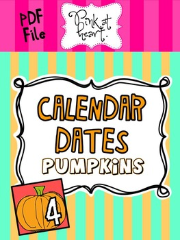 Pumpkin Calendar Dates