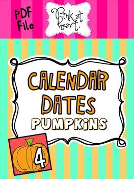 Pumpkin Calendar Dates