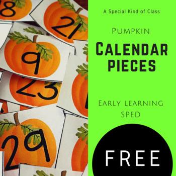 Pumpkin Calendar Numbers