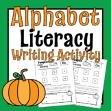 Pumpkin Candy/Tab- Letter Recognition & Writing Practice-U