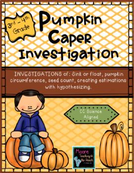 Pumpkin Caper Measurement Investigation 3rd-4th Grade