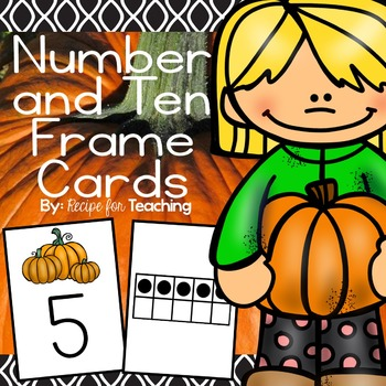 Pumpkin Number and Ten Frame Cards