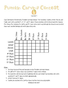 Pumpkin Carving Contest Logic Level 1