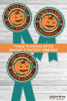 Pumpkin Carving Contest Ribbons and Vote Cards