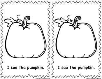Pumpkin Carving Easy Reader Book - Sight Words - The, Is, I, See, Of, A