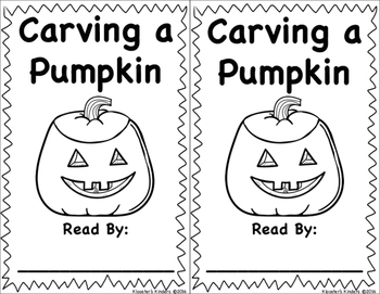 Pumpkin Carving Easy Reader Book - Sight Words - The, Is,