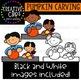 Pumpkin Carving: Fall Clipart {Creative Clips Clipart}