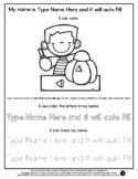 Pumpkin Carving - Name Tracing & Coloring Editable Sheet -