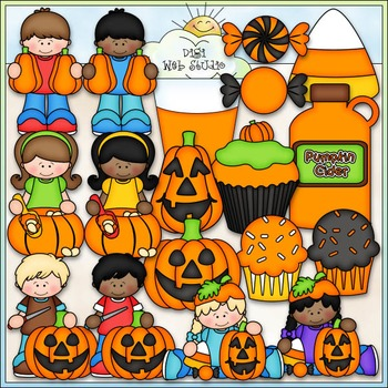 Pumpkin Carving Party Clip Art - Halloween Clip Art - CU Clip Art & B&W
